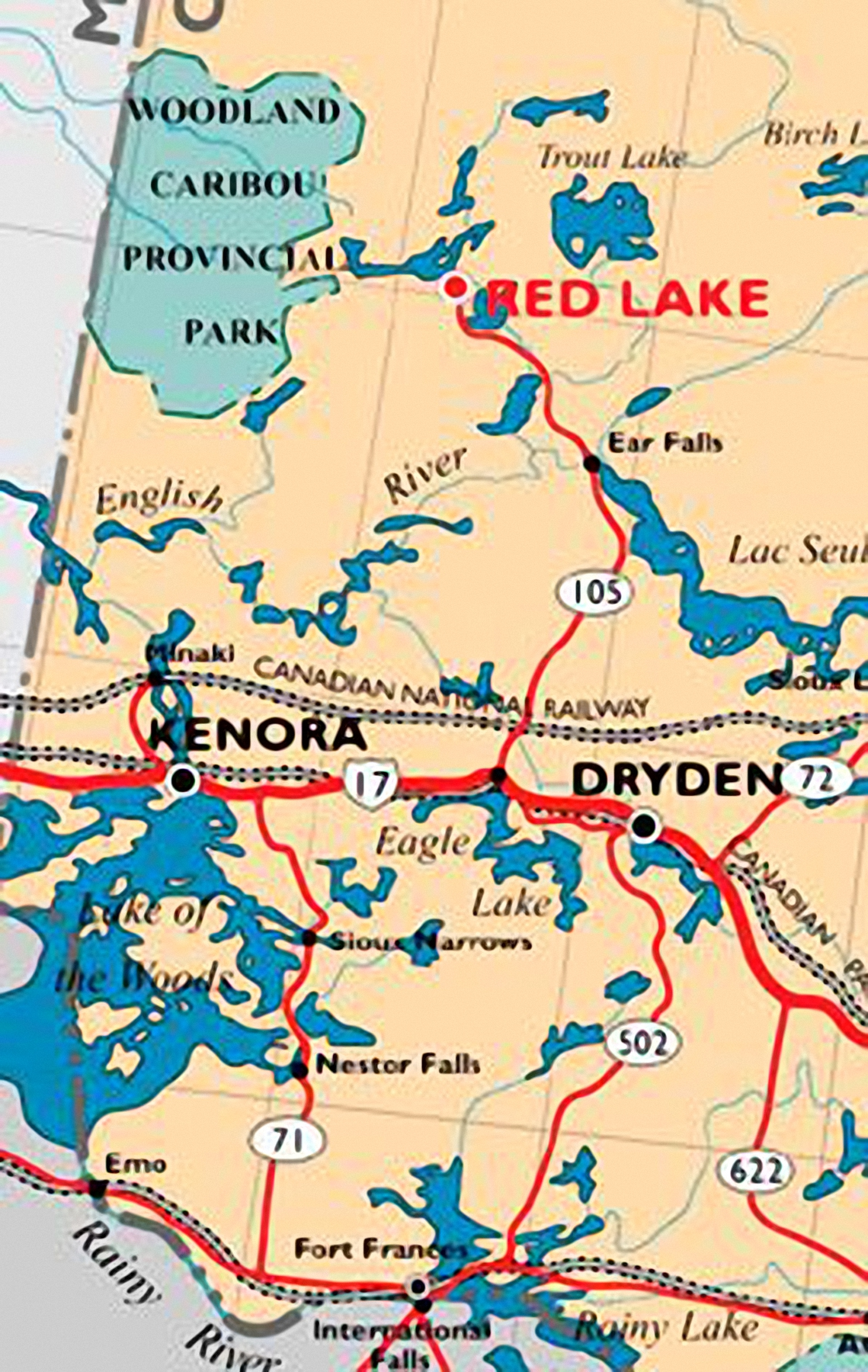 red lake ontario map The Galways New Home Page red lake ontario map